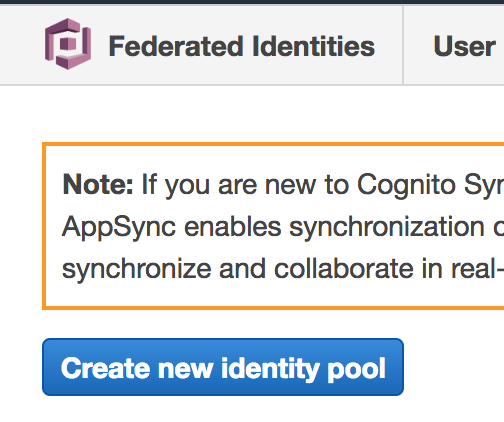 Creating a Cognito Identity Pool