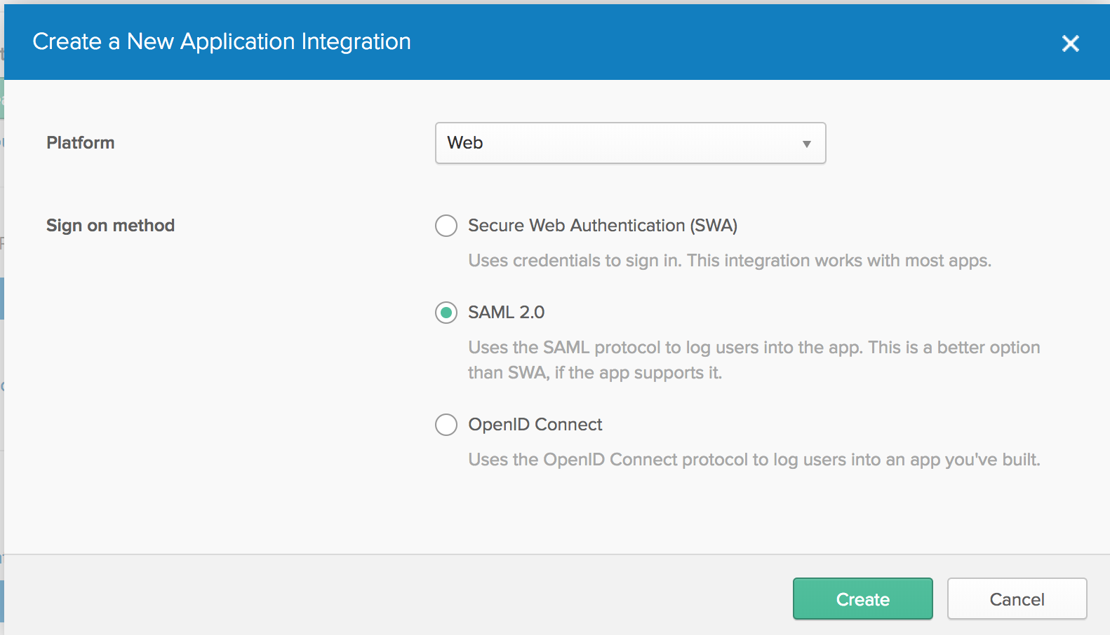 Third party SAML authentication for AWS Elastisearch