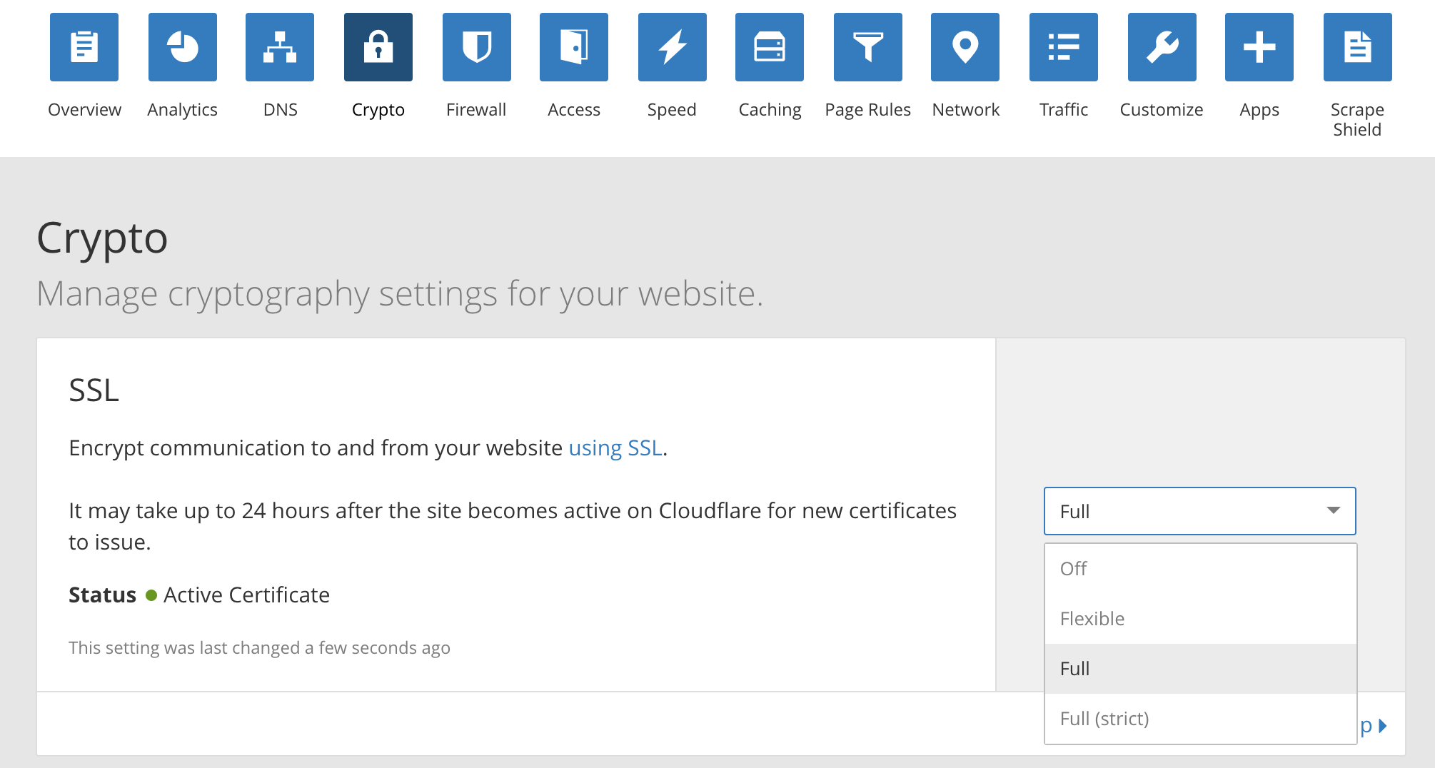 CloudFlare full crypto