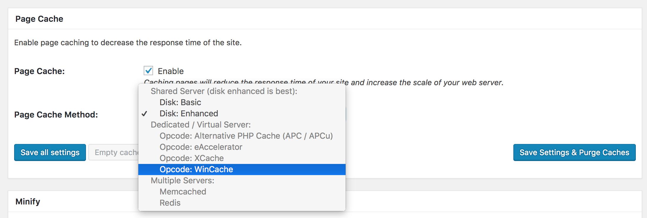 Opcode WinCache